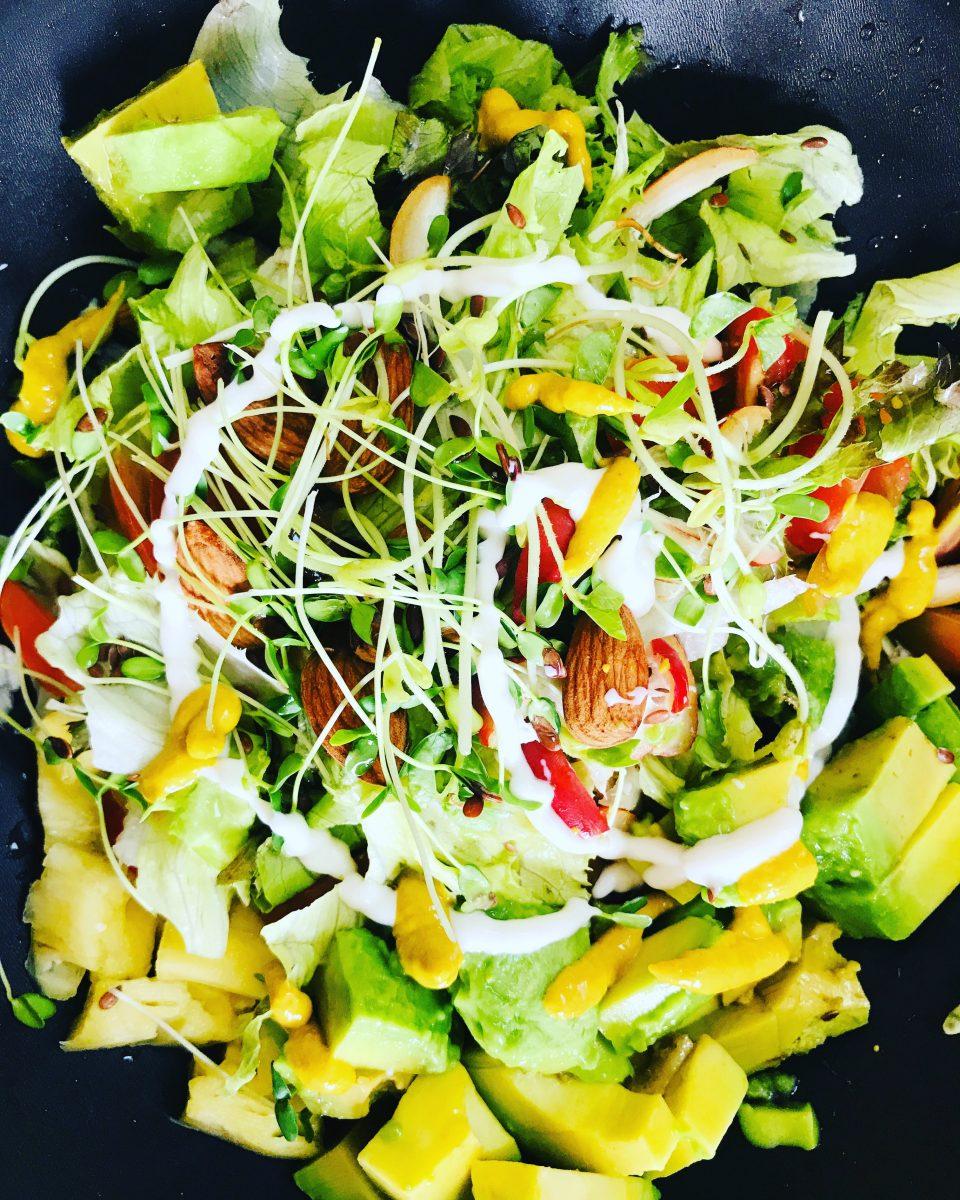 vegan salad, organic, rawfood, saladrecipe